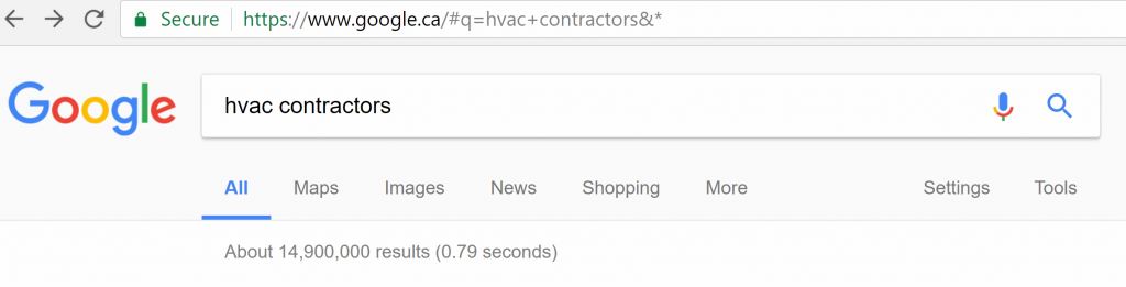 Google SEO HVAC Contractors