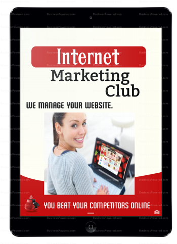 Internet Marketing Club Lady Manage Website