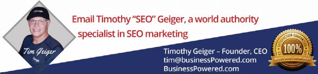 World Authority Tim Geiger SEO